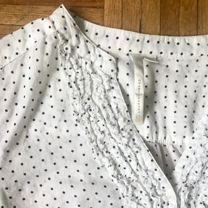Lauren Conrad Button Down Polka Dot Blouse